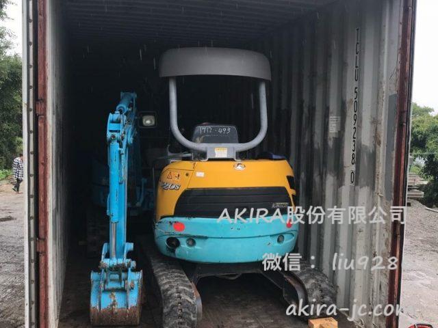 集裝箱貨櫃批發銷售日本舊挖土機和挖溝機