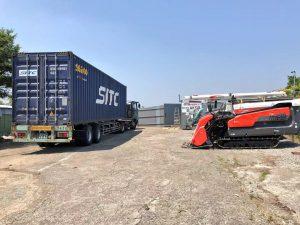 日本进口水稻・小麦联合久保田收割机批发销售