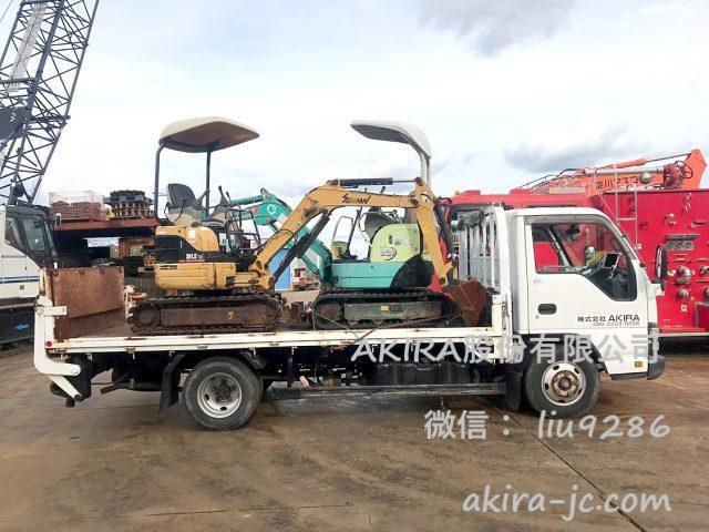 出售:日本微小型挖土機,mini小松挖溝機,久保田挖溝機等