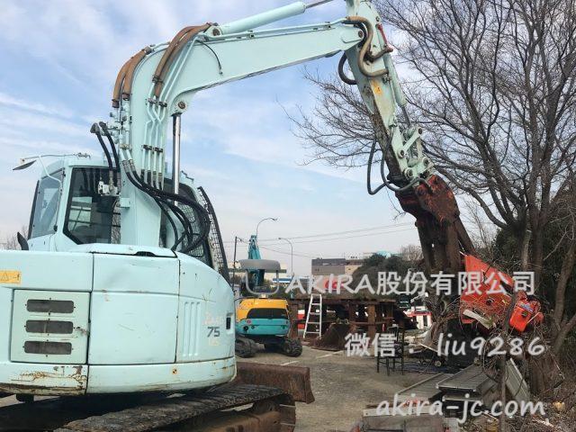 特殊灰白色的日立zx75us进货介绍【日本二手挖掘机批发销售供应商】