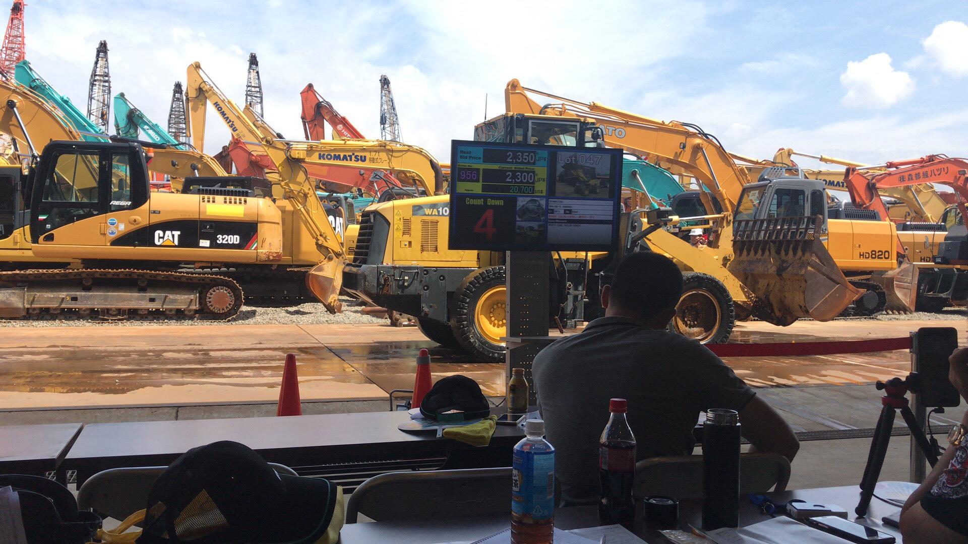 日本挖掘机拍卖会参加
