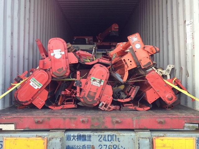 日本中古農機 出口 裝集裝箱