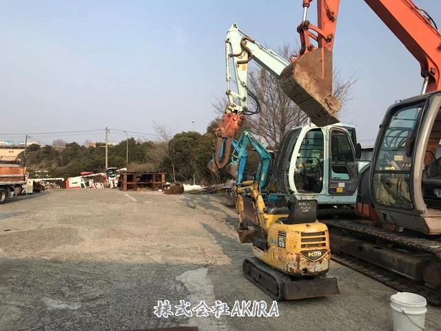 日本二手挖掘机货场