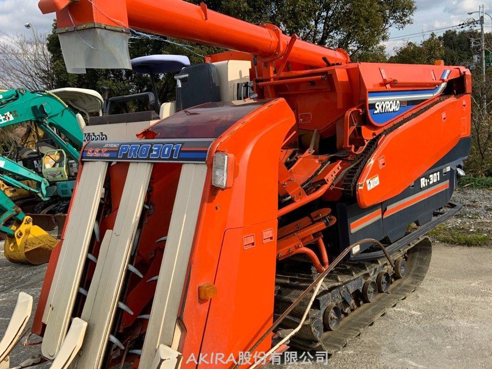 久保田水稻,小麦收割机R1-301的后面【R1-301G进货介绍】